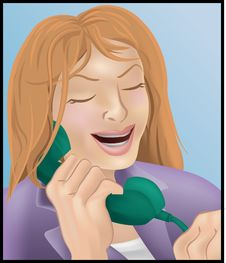 Free Woman On The Phone Stock Image - 750201