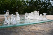 Free Chess Game In The Garden Stock Photography - 751122