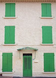Free French House With Green Blinds Stock Images - 751824