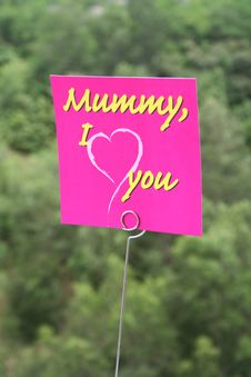 Free I Love Mom Message Stock Photos - 752293
