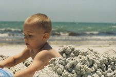 Free Toddler At The Beach Stock Photography - 753652