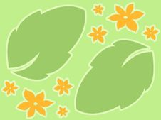 Free Orange Floral Leaves Royalty Free Stock Photos - 756188