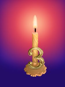 Free Birthday Candle Stock Photos - 756353
