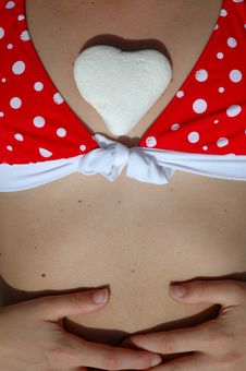 Free Stone Heart And Breasts Royalty Free Stock Photo - 756895
