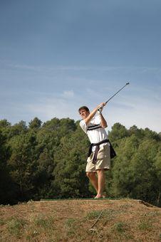 Free Fun Golfer Stock Photo - 757510