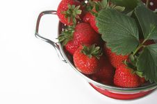 Free Strawberries In Metal Container Stock Images - 757724