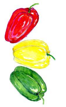Free Three Peppers Art Royalty Free Stock Photos - 75174818