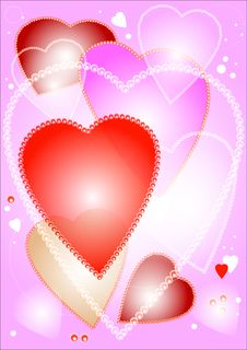 Free Pink Hearts Background Stock Photo - 7525670