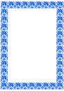 Free Blue Patterned Frame Stock Images - 7548994