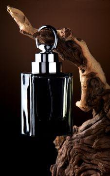 Free Black Perfume Bottle Royalty Free Stock Photo - 7543205