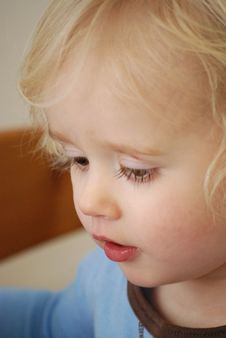 Toddler Pondering Royalty Free Stock Image