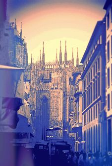 Turistic Sight  Of Milan Royalty Free Stock Photography