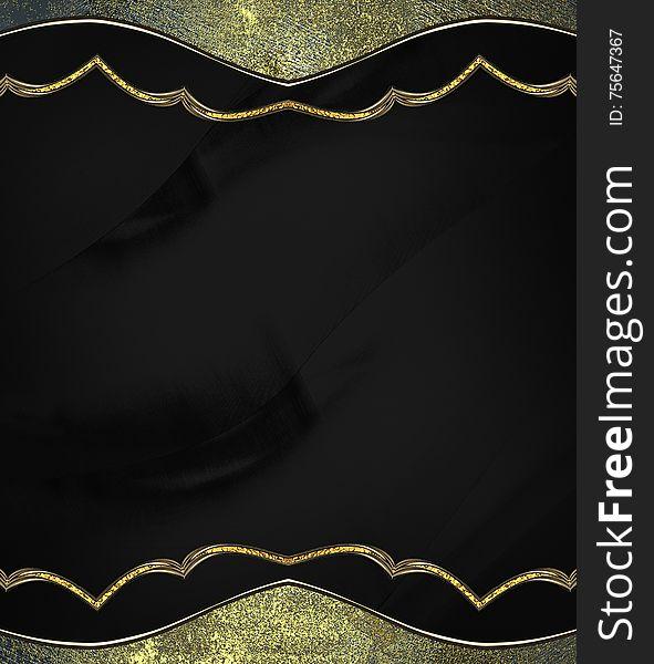 Black Background With Vintage Frame. Template For Design. Copy ...
