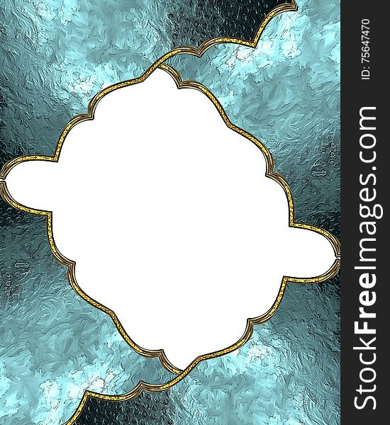 Abstract blue frame. Template for design. copy space for ad brochure or announcement invitation
