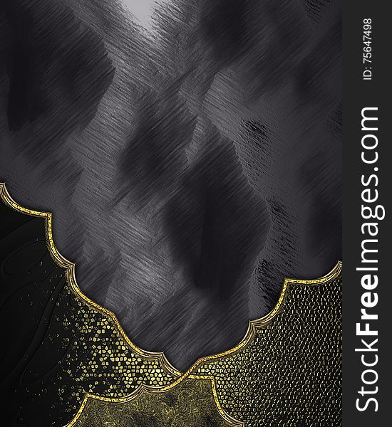 Abstract black background with adornment. Template for design. copy space for ad brochure or announcement invitation