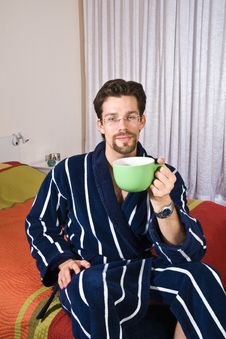 Free Young Man Drinking His Morning Coffee Stock Photography - 7572572