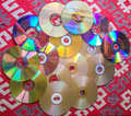 Free Compact Disks Collection On The Table Royalty Free Stock Photos - 75727278
