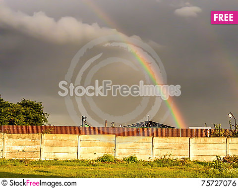 Free Colorful Rainbow After The Storm Royalty Free Stock Image - 75727076