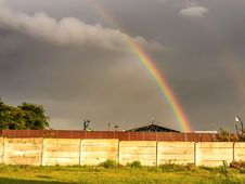 Colorful Rainbow After The Storm Royalty Free Stock Image
