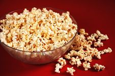 Free Popcorn In Bowl Stock Photography - 7590382