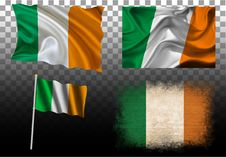 Free Set Of 4 Flags Of The Ireland Royalty Free Stock Photos - 75938408