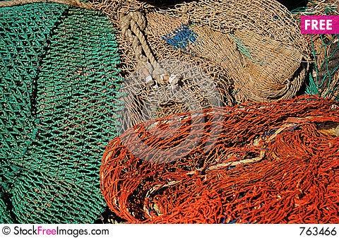 Free Fishing Net Royalty Free Stock Image - 763466