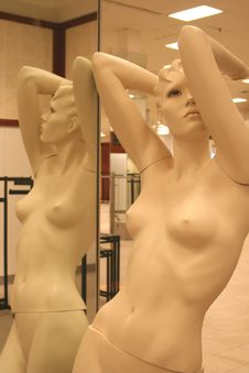 Mirrored Mannequin Royalty Free Stock Photo