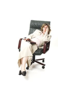 Free Business Woman Relaxing On Chair Stock Photography - 761042