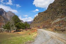 Free Road, Mountains And Skies. Stock Image - 762931