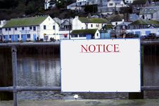 Free Blank Notice By The Harbor. Royalty Free Stock Photo - 763135