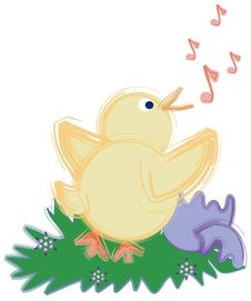 Free Spring Chick Singing. Stock Photo - 763280