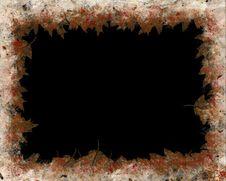 Free Autumnal Grunge Frame. Stock Images - 763294
