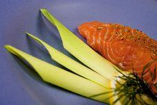 Free Raw Salmon Steak. 3 Stock Photos - 763943