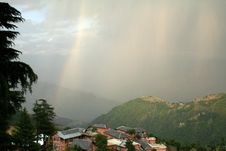 Free Rainbow Arcs  & Virga Clouds Over Himachal India Stock Image - 764181