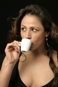 Free Brazilian Woman With Cup Of Coffee Stock Images - 765444