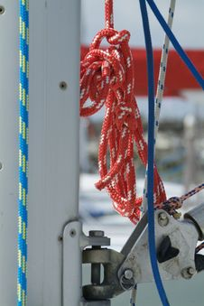 Free Red Halyard Hanging From The Mast Stock Photos - 766463
