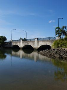 Free Bridge Over Water Royalty Free Stock Photo - 766625