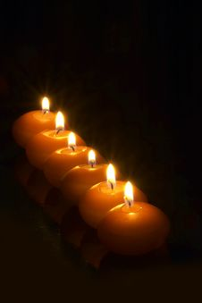 Free Candles Royalty Free Stock Image - 766846