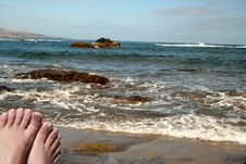 Free Relaxing By The Seaside Stock Image - 767301