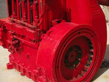 Free Bright Red Industrial Engine Royalty Free Stock Image - 768586
