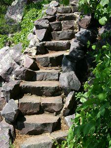 Free Stone Stairway Royalty Free Stock Photos - 768598