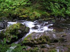 Green Falls Royalty Free Stock Photography