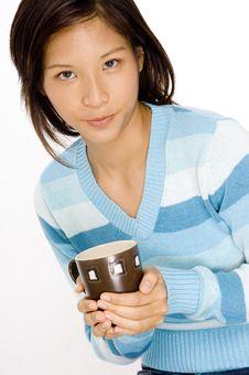 Free Woman And Mug Stock Photography - 768912