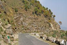 Narrow Mountain Road Near Chamba Himachal India Royalty Free Stock Image