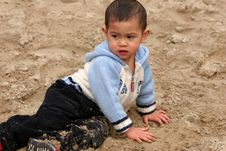 Free Child In Sand Royalty Free Stock Image - 769446