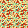 Free Lines In Retro Colours, Abstract Seamless Pattern Stock Images - 76275834
