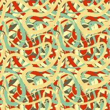 Lines In Retro Colours, Abstract Seamless Pattern Stock Images