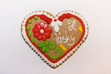Free Sweet Heart Gingerbread Royalty Free Stock Photo - 7630435