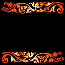 Free Abstract Floral Frame Stock Photography - 7634342