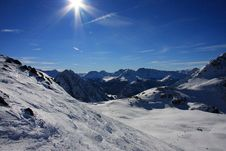 Free Mountains And Sun Royalty Free Stock Images - 7634649